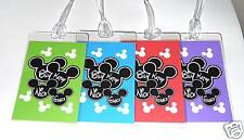 Disney Luggage Tags Set of 8  Personalized MICKEY MOUSE - YOUR CHOICE OF COLORS