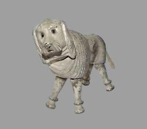 ANTIQUE SCHOENHUT WOOD Humpty Dumpty Circus VTG GLASS EYES POODLE DOG TOY FIGURE