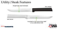 Rada W204 Utility/Steak Knife Non-serrated kitchen Made USA, L/R hand Buy 4 get