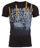 Armani Exchange AN-03 Mens Designer T-SHIRT Premium BLACK Slim Fit $45 NEW
