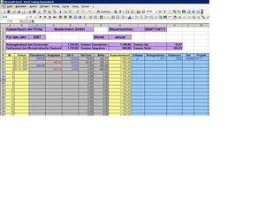 Kassenbuch und Kassenabrechnung - MS Excel mit Rechnung