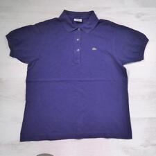 Ladies LACOSTE Blue Vintage Designer Polo Shirt T-Shirt Size 40 / UK 12 #D4794