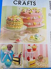 McCALL'S 5868 Cake Cupcake Sachet PinCushion Magnet PATTERN UNCUT Factory Folded