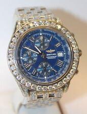Breitling Crosswind Chronometer A13355 Stainless Steel 10.00 ct Diamond Watch !!