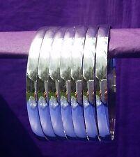 Silver Layered Semanario Bangles Bracelets Plata Laminado 7 6mm