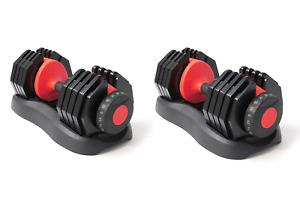 New & Sealed - Adjustable Dumbbell 24kg (48kg Pair) - Black