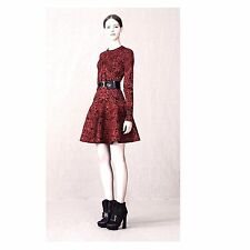 Alexander McQueen Jacquard Red&black Gothic Dress size L , UK-14-16, US-10-12
