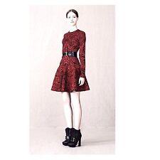 Alexander McQueen Jacquard Rouge & Noir gothique robe taille L, UK-14-16, US-10-12