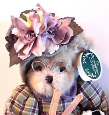 """Bearington Bears Knitter & Pearl #1081 Knitting Is My Bag 15"""" Retired"""
