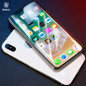 For iPhone 12 11 Pro XS Max BASEUS 4D Full Cover Tempered Glass Screen Protector