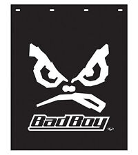 "BadBoy 24"" x 30"" Black & White Poly Semi Truck Splash Guards/Mud Flaps-Pair"