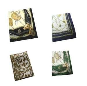 Foulard donna quadrato 90 con disegni classici made in italy