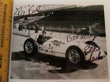 Eddie Sachs Autographed Fatal Photo NASCAR Indianapolis 500 Indy Racing COA JSA