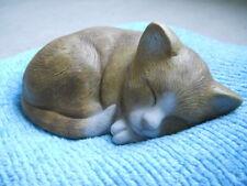 Latex mould of a sleeping kitten