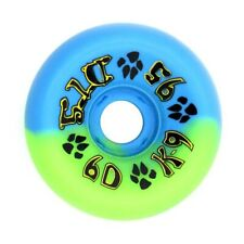 Dogtown K9 Skateboard Wheels 60mm 95a Blue Green And Bones Reds Bearings