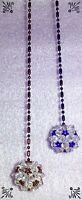 Handcrafted Disco Ball Blue Maroon Red Fan Pull Made W Swarovski Crystal