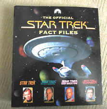 STAR TREK OFFICIAL FACT FILES / BINDER / SECTION 7 / WITH 25 FACT FILES MAGS