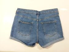 H & M Regular Waist 100% Cotton Denim Shorts Uk 10 New W30
