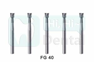 Dental Tungsten Carbide Burs Inverted Cone FG 40 for High Speed Handpiece 5Pcs