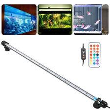 LED RGB Tube Lampe Aquarium Air Bulle Éclairage Subemersible Lumière 57-92cm