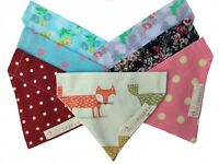 Handmade DOG BANDANA Neckerchief Scarf Slide on Collar  Puppy Pet Cat