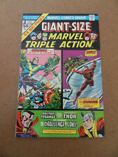 Giant Size Marvel Triple Action  2 . Marvel 1975 . FN +