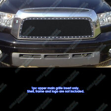 Fits 2007-2009 Toyota Tundra Stainless Black Mesh Rivet Grille