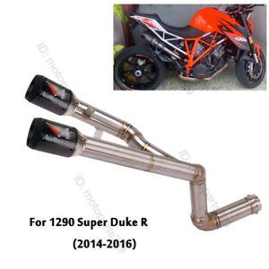 For KTM 1290 Super Duke R 2014-2016 Exhaust Mid Link Pipe Muffler Tip Under Seat