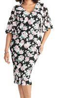 Rachel Rachel Roy Womens Sheath Dress Black Size 20W Plus Floral Lace $139- 090