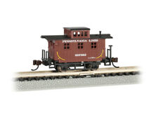 Bachmann-Old-Time Wood Bobber Caboose - Ready to Run -- Pennsylvania Lines 99766