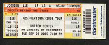 Original U2 2005 Unused Full Concert Ticket Vertigo Tour Chicago IL Bono