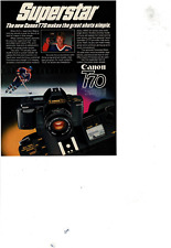 DEC 17 1984 NEWSWEEK CANON T70 SELF LOADING 35MM WAYNE GRETZKY AD PRINT E674