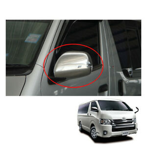 Wing Side Mirror Cover Chrome Electric Adj For Toyota Hiace Commuter 2005 - 2017