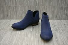 Sorel Lolla Cut Out Leather Booties, Women's Size 8, Blue