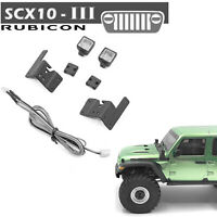 Vorder Scheinwerfer mit LED-Lampen Set für 1/10 AXIAL SCX10 III JEEP RC Crawler
