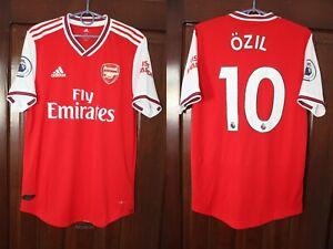 Arsenal London 2019 2020 Ozil Home Player Issue Adidas Soccer Jersey Shirt Sz M