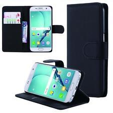 Samsung Galaxy S7 G930 Cartera Funda Negro + de Vidrio Templado Wallet Case Cove