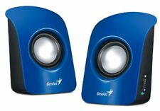 Genius SP-115 USB Powered Stereo Speakers for Desktop Laptop Computer - Blue