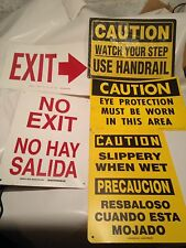 5 Caution Exit Industrial Factory Vintage Sign For Man Cave Free Shipping