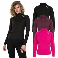 DLX Womens Long Sleeve 1/2 Zip Pullover Gym Top Active Workout Odette