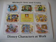 Guyana 1995 Disney Personnages At WORK-MICKEY'S Arts & Crafts