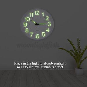 30CM Large Luminous Wall Clock Glow In The Dark Silent Home Digital Clock Silver