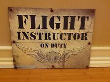 New Flight Instructor Metal Decor* air plane war pilot military aircraft wings