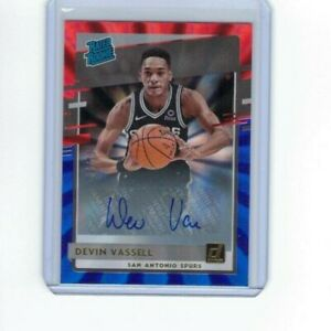 Devin Vassell 2020-2021 Panini Donruss Rated Rookie RC Red and Blue Laser 11/20