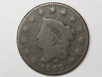1822 US Coronet Head Large Cent.  #13