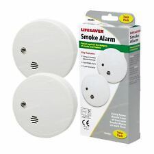Kidde i9040TLSB Lifesaver 2x Smoke Detectors Fire Alarm Ionisation Batteries Inc