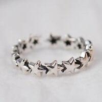 925 Silber Sternenkette Ring verstellbar Sterne