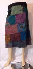 FAIR TRADE GRINGO HIPPY BOHO ETHNIC HIPPIE PATCHWORK SKIRT FROM NEPAL XL