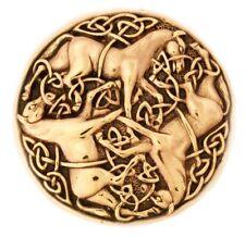Bonna Keltische Pferde Fibel Brosche Bronze Symbol Schmuck - NEU
