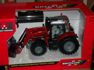 BRITAINS 43082A1 MASSEY FERGUSON 6616 TRACTOR  WITH FRONT LOADER       NEW